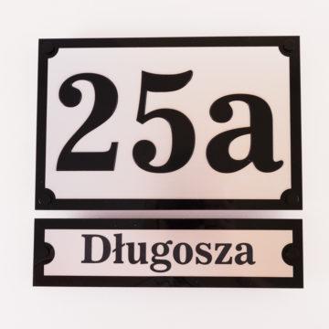 Tablica adresowa nadom dwuczęściowa