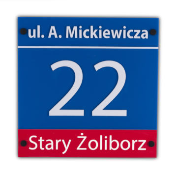 Tablica adresowa nadom warszawska