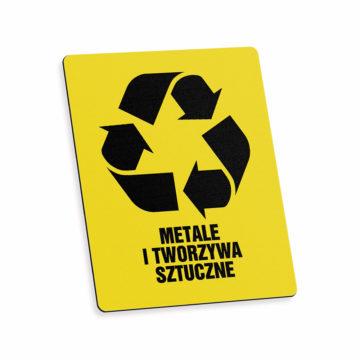 Tabliczka piktogram odpady metale itworzywa sztuczne