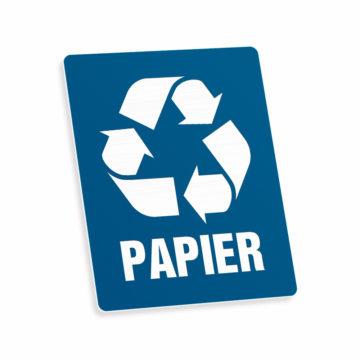 Tabliczka piktogram odpady papier