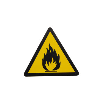 Znak ostrzegawczy piktogram łatwopalne