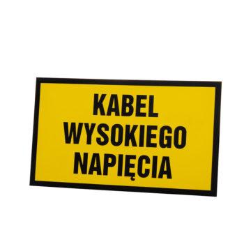 Tabliczka ostrzegawcza kabel wysokiego napięcia