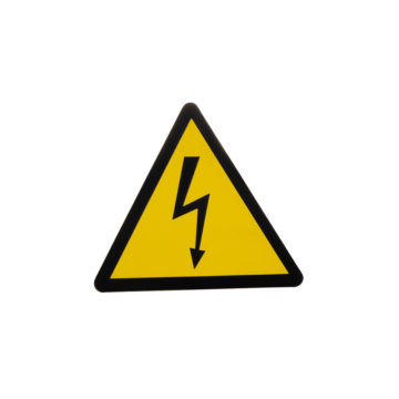 Znak ostrzegawczy piktogram wysokie napięcie