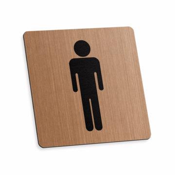 Tabliczka piktogram toaleta męska