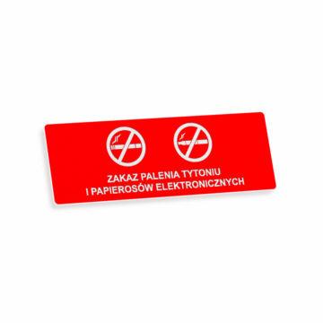Tablica zakaz palenia tytoniu ipapierosów elektronicznych