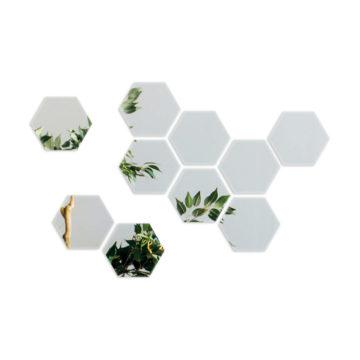 Lustro samoprzylepne heksagon