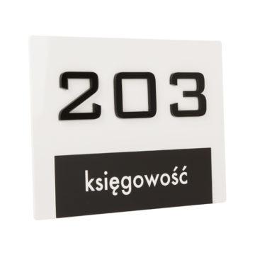 Tabliczka numer pomieszczenia księgowość