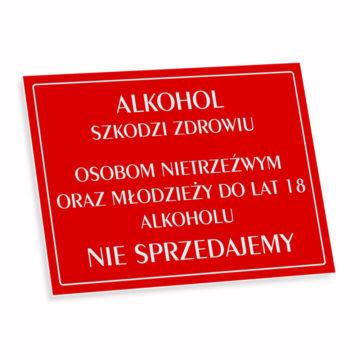 Tabliczka zlaminatu alkohol szkodzi zdrowiu