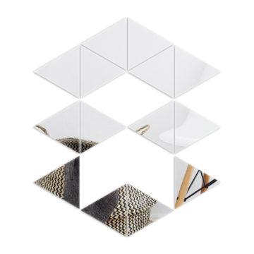 Lustro samoprzylepne trójkąt równoboczny